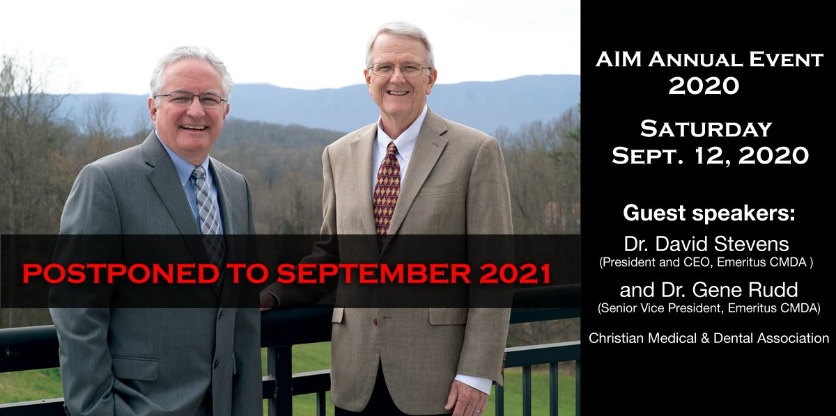 Annual AIM Event 2020 Postponed to September 2021