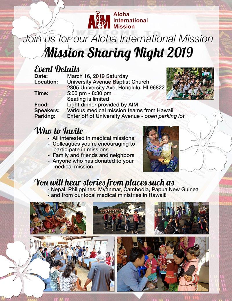 AIM Mission Sharing Night 2019